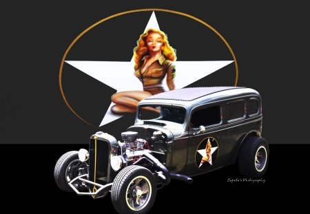 PIN UP BEAUTY - Ford & Cars Background Wallpapers on ...