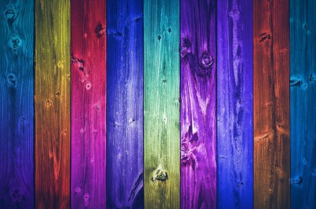 Colorful world - colorful, colors, blue, spectrum, paint, yellow, hd, fence, red