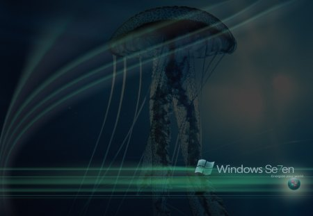 Windows-7-12 - colour, logo, energize your world, windows, swirls, windows 7, jellyfish, lights