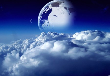 One Beautiful World - One Beautiful World, beautiful earth, blue world, blue planet, cracked world, beautiful planet