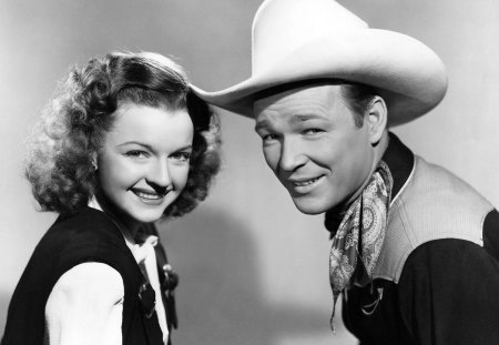 Roy Rogers and Dale Evans - couple, actress, actor, movie