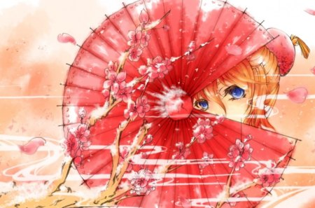 Beautiful face hiding - Other & Anime Background ...