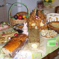 Traditionally easter table