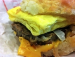 Steak Egg and Cheese Biscuit