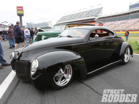 1940 Ford Coupe - Ford, Chrome Wheels, Black, Classic