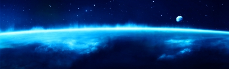 Deep Blue Space - deep blue, blue, blue universe, blue space, Deep Blue Space