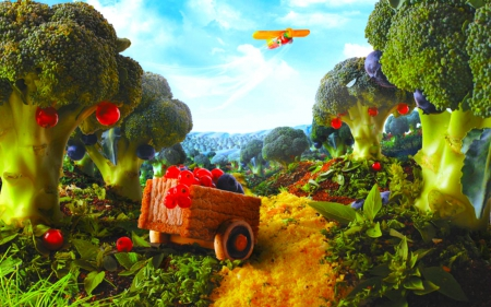 Vegetable garden - Other & Abstract Background Wallpapers ...