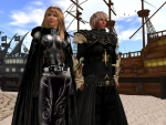 Couple of nobles at the docks