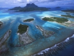 fantastic view of islands in a coral reef