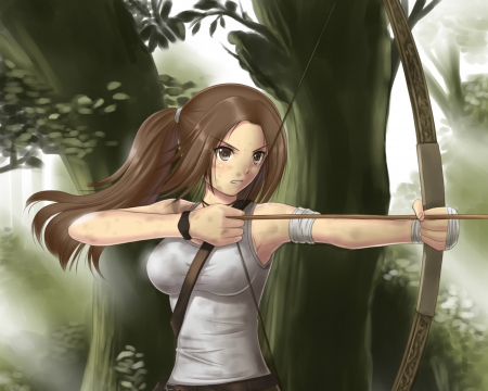 bow and arrow hunting wallpaper