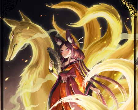 nine tails other amp anime background wallpapers on