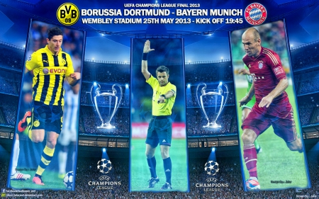 Champions League Final 2013 - Champions League wallpaper, Dortmund, robben, Borussia Dortmund, champions league, bvb, Robert Lewandowski, ayern, puma, adidas, bayern munchen wallpaper, Borussia Dortmund wallpaper, champions league final