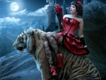 ~Red Girl on a Tiger~