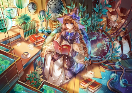 Reading books - Other & Anime Background - 179.5KB