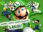 luigi 30th anniversary wallpaper