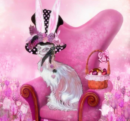 cat in the mad hatter hat cats amp animals background