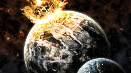 Impact Earth - Impact Earth, asteroid impact, impact, earth destroyed, earth shattered