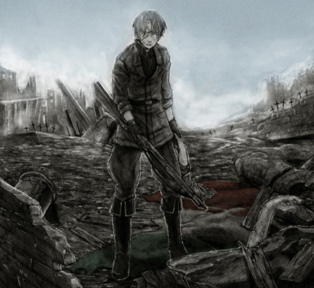 The end other anime background wallpapers on desktop - Anime war wallpaper ...