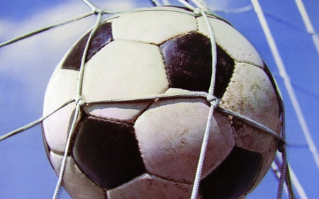 Soccer Ball Hitting the Net - ball, bundesliga, player, soccer, football