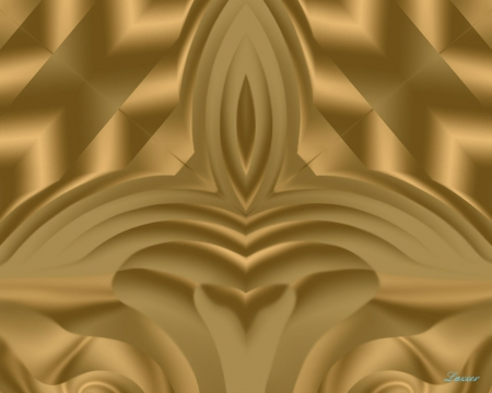 The Golden Chair - other, abstract, gold, desktop, wallpaper, background, bright, fantasy, throne, brown