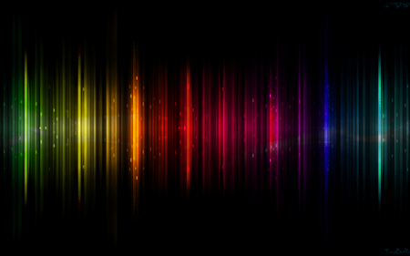 Aurora Borealis - dark, colorful, black, abstract, colors, auroraborealis, rainbow