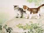 Chinese Cat Painting III