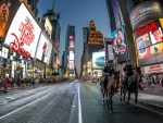 mounted police in times square nyc