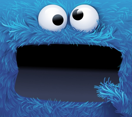 Cookie monster 3d and cg abstract background - Cookie monster wallpaper ...