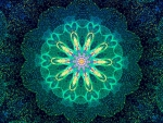 Green colors mandala