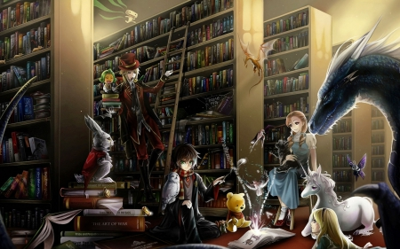 Magic Library - Other &amp- Anime Background Wallpapers on Desktop ...