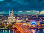 magnificent view of cologne germany