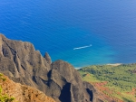 Kalalau Lookout Kauai Hawaii - over ocean and cliffs on na pali coastline