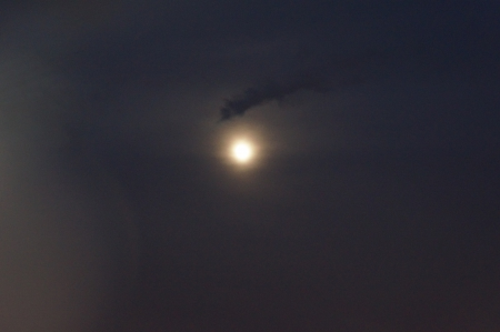 Hazy Moon - hazy night, Hazy Moon, hazy sun, night sky