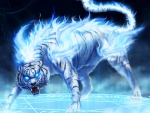 Fantasy White Flaming Tiger