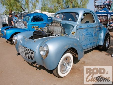 Willys Coupe - Ford, Whitewalls, Blue, Classic