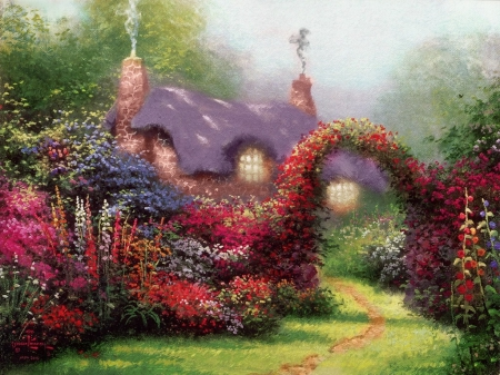 fantasy cottage fantasy amp abstract background wallpapers