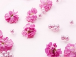Pink Flowers & Pearls