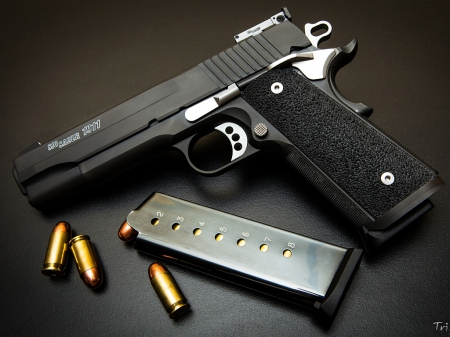 Sig Sauer 1911 - firearm, weapon, pistol, thrill