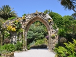 Abbey Ruins at Tresco Abbey Tropical Gardens Isles of Scilly England