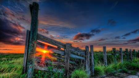 magnificent mountain sunset hdr - photo #21