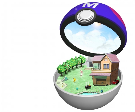 Master Ball - beautiful, cloud, adorable, pretty, beauty, anime, water, kawaii, nice, white, house, pokemon, fantasy, plain, pokeball, object, sky, items, cute, underwater, lovely, item, realistic, objects, hd, 3d, sweet, pikachu, simple, cg