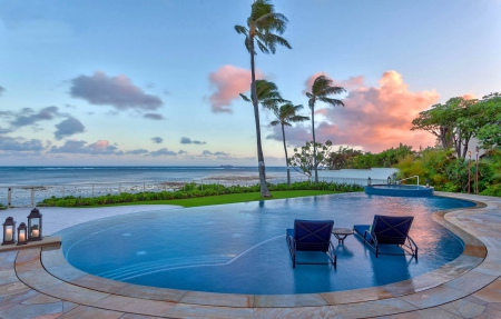 Swimming Pool Background beautiful sunsetswimming pool maui island hawaii - beaches