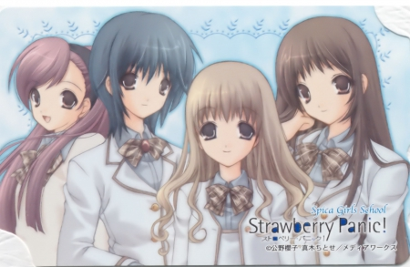 St. Spica's Academy - team, group, cute, pretty, lovely, sexy, strawberry panic, anime, female, girl, nice, anime girl, friend, hot, sweet