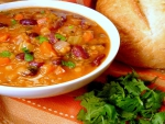 Mexican Red Lentil Bean Soup