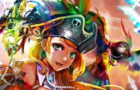Pirate girl other anime background wallpapers on - Anime pirate wallpaper ...