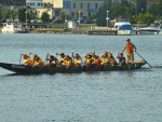 "Barrie""s dragon boat races (yellow boat)"