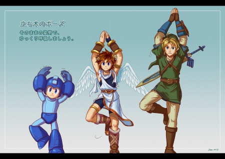Keeping the balance - Nintendo, Link, Super Smash Bros 4, Pit, Megaman