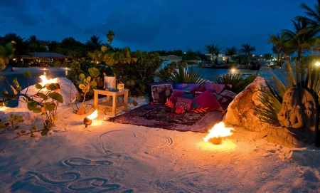Beach Picnic By Candlelight Beaches Amp Nature Background