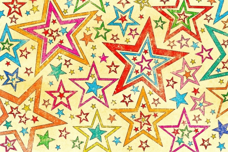 Multicolor Stars - red, blue, pink, textures, stars, beauty, abstract, sweet, purple, patterns, beautiful, pretty, green, yellow, orange, white