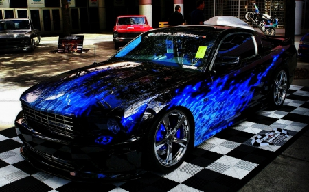 Blue Fire Car Other Amp Cars Background Wallpapers On